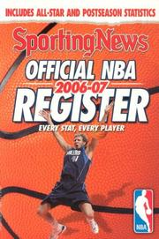Cover of: Official NBA Register 2006-07 (Official NBA Register) | Sporting News