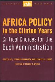 Cover of: Africa Policy in the Clinton Years | D. C.) Center for Strategic and International Studies (Washington