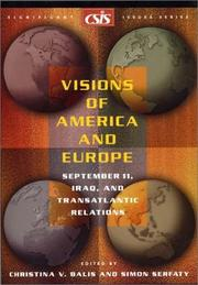 Cover of: Visions of America and Europe |