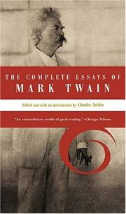 The Complete Essays of Mark Twain