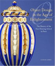 Cover of: Object Design in the Age of Enlightenment | Ulrich Leben