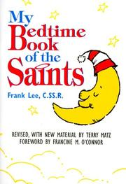 Cover of: My bedtime book of the saints | Lee, Frank.