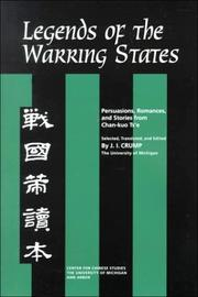 Cover of: Legends of the Warring States | J. Crump