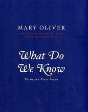 Cover of: What Do We Know