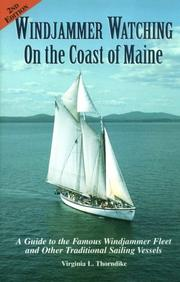 Windjammer watching on the coast of Maine by Virginia L. Thorndike