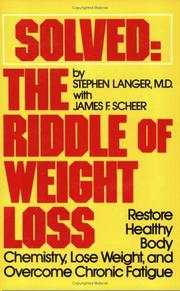 Cover of: Solved-- the riddle of weight loss | Stephen E. Langer