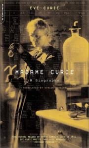 Cover of: Madame Curie | Curie, Eve