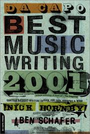 Cover of: Da Capo Best Music Writing 2001 | Various