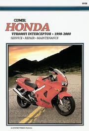 Cover of: Honda Vfr800Fi Interceptor, 1998-2000 | Clymer Publications