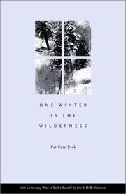 Cover of: One Winter in the Wilderness | Pat Cary Peek