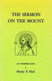 Cover of: Sermon on the Mount | Manly P. Hall