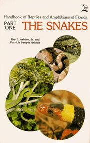 Cover of: Handbook of Reptiles and Amphibians of Florida | Ray E. Ashton