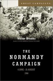 Cover of: The Normandy Campaign