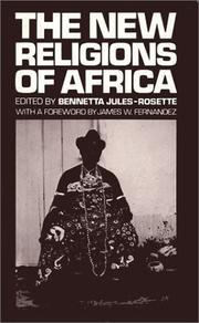 Cover of: The New religions of Africa by Bennetta Jules-Rosette, editor.