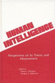 Cover of: Human intelligence |