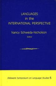 Cover of: Languages in the International Perspective | Nancy Schweda-Nicholson