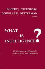 Cover of: What is intelligence? |