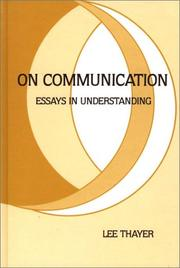 Cover of: On communication