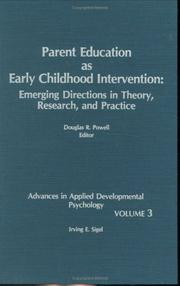 Cover of: Parent Education as Early Childhood Intervention | Douglas R. Powell