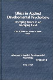 Cover of: Ethics in Applied Developmental Psychology |