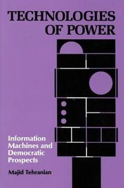 Cover of: Technologies of Power
