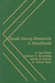 Cover of: Small group research |