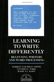 Cover of: Learning to write differently