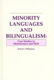 Cover of: Minority languages and bilingualism | Robert Clifford Williamson