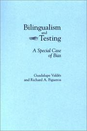Cover of: Bilingualism and testing | Guadalupe ValdeМЃs