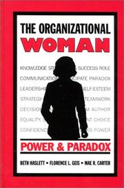 Cover of: The organizational woman
