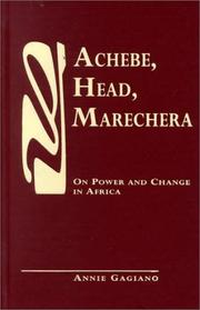 Cover of: Achebe, Head, Marechera