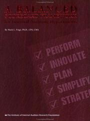 Cover of: A balanced scorecard framework for internal auditing departments