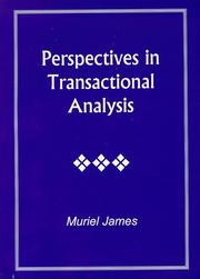 Cover of: Perspectives in transactional analysis
