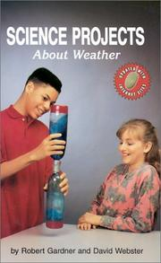Cover of: Science projects about weather