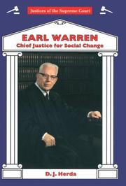 Cover of: Earl Warren
