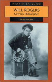 Cover of: Will Rogers | Mary Malone
