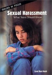 Cover of: Sexual harassment | Carol Rust Nash
