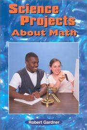 Cover of: Science projects about math