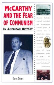 Cover of: McCarthy and the fear of communism in American history | Karen Zeinert