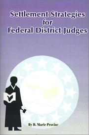 Cover of: Settlement Strategies for Federal District Judges | Doris Marie Provine