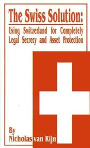 Cover of: The Swiss Solution