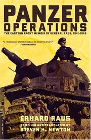 Cover of: Panzer Operations