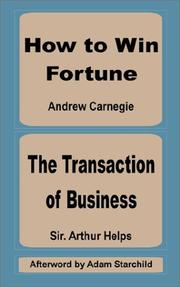 Cover of: How to Win Fortune and the Transaction of Business