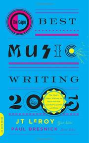 Cover of: Da Capo Best Music Writing 2005 | J. T. Leroy