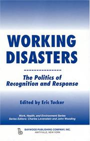 Cover of: Working disasters |