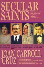 Cover of: Secular saints | Joan Carroll Cruz