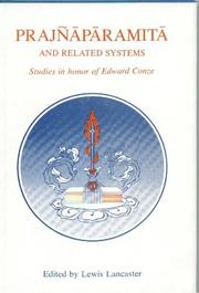 Cover of: Prajnaparamita and Related Systems (Berkeley Buddhist studies series) |