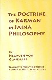 Cover of: The doctrine of Karman in Jain philosophy | Helmuth von Glasenapp