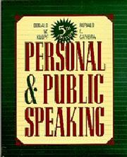 Cover of: Personal and Public Speaking