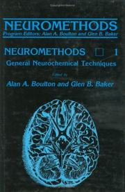 Cover of: General neurochemical techniques |